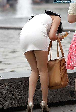 candid bbw butts ass tights