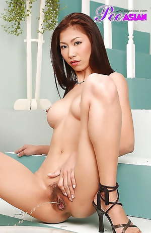 Naughty Asian girls peeing