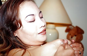 Asian swollen boobs, lactating puffy nipples big areolae