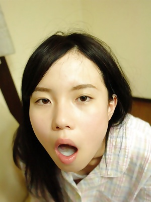Asian cum sluts: blowjob and cum