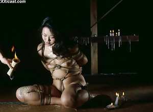 Japanese Rope Bondage Waxing And Insertions