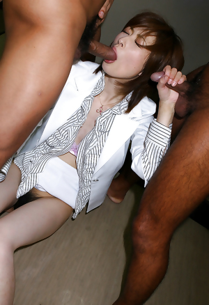 Japanese teacher filled with cum