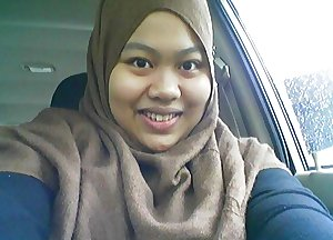 malay- busty babe from brunei tudung hijab