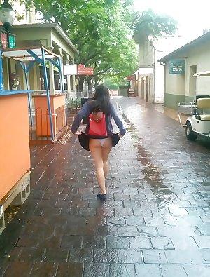 asian teen flashing in public