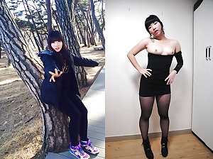 Super Cute Asian Dressed Undressed Before After Facials
