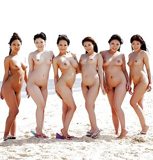 Asian group naked