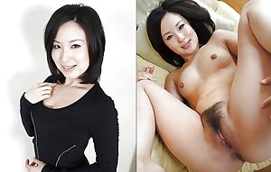 Clothed and Unclothed Asian Girls